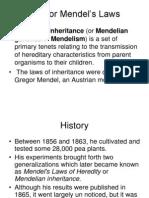 Gregor Mendel's Laws