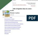 La Petite Irrigation Dans Les Zones Arides -FAO