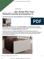 Coffe Table Design - Design Meja Tamu Minimalis Yang Bisa Di Perpanjang 2 X
