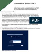 Installing and Configuring Windows Server 2012 Hyper-V