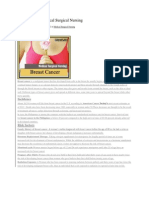 Breast Cancer Medical Surgical Nursing