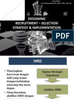 Design Recruitment - Selection Strategy & Implementation