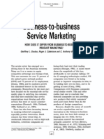 Business to Service Marketing
