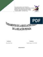 Fundamentos de La Regulacion Publica en La Relacion Privada