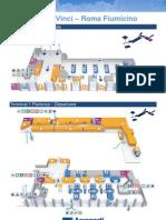 Mappa Terminal 1 Arrivi e Partenze Aeroporto Fiumicino