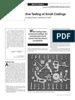 Non Destructive Testing of Small Cast In
