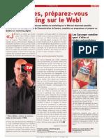 Article Tout l'Emploi Marketing Preparez-Vous Au Marketing Sur Le Web Octobre 2012