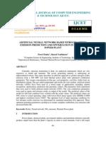 Artificial Neural Network Based Nitrogen Oxides Emission Prediction And