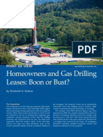 Homeowners and Gad Drilling Leases - Boon or Bust