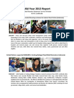 HOPE worldwide Global Disaster Recovery  Mid-Year 2013
