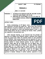 Closing of HPBP Valve-Aug 08