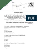 avaliação 1º bimestre de português