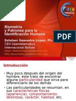 Biometria y Patrones para la Identificacion Humana