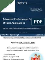 Advanced Performance Optimization of Rails Applications