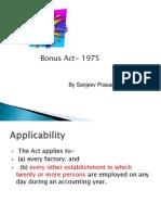 Bonus Act 1975