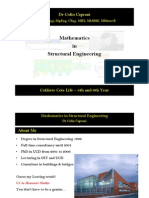Mathematics in Structural Engineering, Course, Dr.colin Caprani