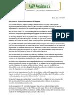 Offener Brief an den Tschechischen Premierminister