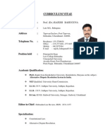 CV OfProf.dr . Rajesh Bahuguna 2013 Website