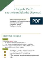30. Improper Integrals 2 (Rigorous)