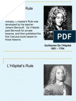 15. L'Hôpital's Rule