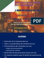 Avanves en La Hidrometalurgia Del Oro