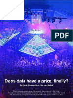 Does data have a price, finally?