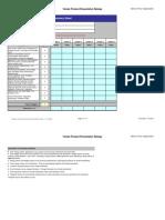Vendor Product Presentation Ratings Form