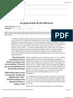 La generación de los mil euros | Edición impresa | EL PAÍS