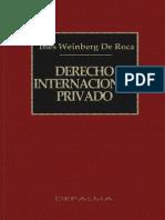 23093274 Weinberg de Roca Ines Derecho Internacional Privado