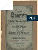 Score Brahms String Quartet No.1, Op.51 No.1