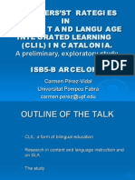 TEACHERS'STRATEGIES IN CONTENT AND LANGUAGE INTEGRATED LEARNING (CLIL)
