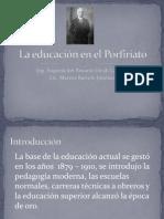 La educación en el Porfiriato