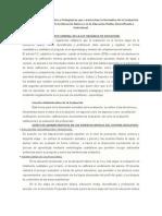 Bases Conceptuales y Pedagógicas que caracterizan la Normativa de la Evaluación en la Tercera Etapa de la Educación Básica y en la Educación Media