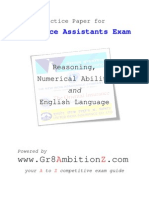 Insurance Assistants Practice Paper - Gr8AmbitionZ