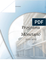 Programa Monetario 2011 2012[1]