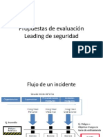 Propuestas de evaluación Leading de seguridad