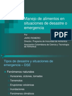 Manejo de Alimentos Food Handling in Emergencies (Colombia)