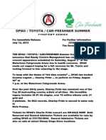 DPAO Press Release - Randy Travis and Replacement Concert