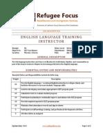English Language Training Instructor