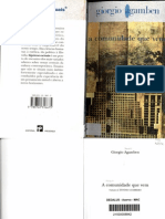 Giorgio Agamben – A comunidade que vem (port. europeu)