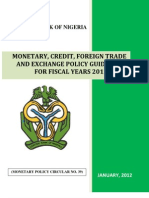 Monetary and Credit Guidelines Final Draft 2012-13