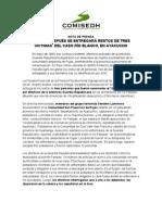 NP 2013-XVIII 30 años después se entregarán restos de tres víctimas  del caso Río Blanco, en Ayacucho
