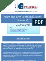 La Econom Iay Las Finan z As