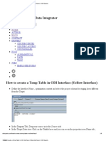How to Create a Temp Table in ODI Interface (Yellow Interface) _ ODI Experts