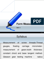 Unit 3 Form Measurement