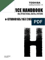 Toshiba E-STUDIO165+167+205+207+237 Service Handbook