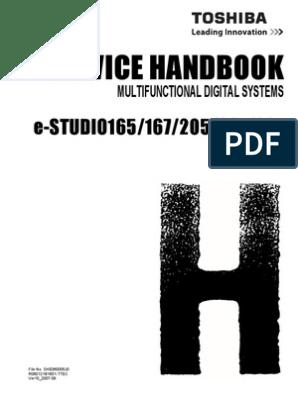 Toshiba E-STUDIO165+167+205+207+237 Service Handbook | Microsoft