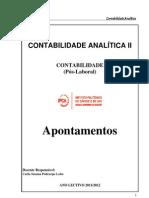 Sebenta Contabilidade Analitica II C PL 2011-2012