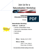 USCIS Naturalization Workshop 7.13.13