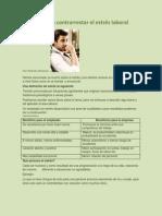 Tecnicas para contrarestar el estrés laboral 2013